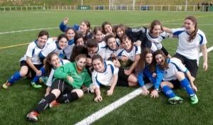 Primer éxito deportivo del año: el cadete femenino de fútbol campeón de Liga