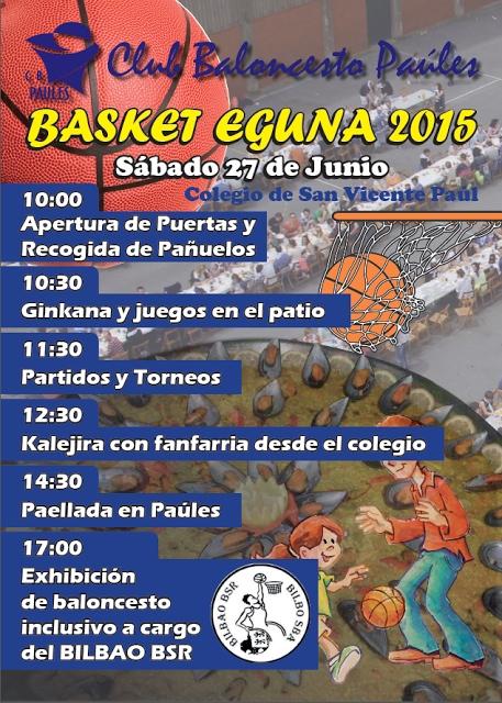 El Baloncesto Paúles despide la temporada con la jornada festiva Basket Eguna el sábado 27