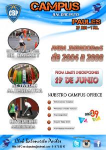 Baloncesto Paúles: campus de verano para nacidos del 2004 al 2008