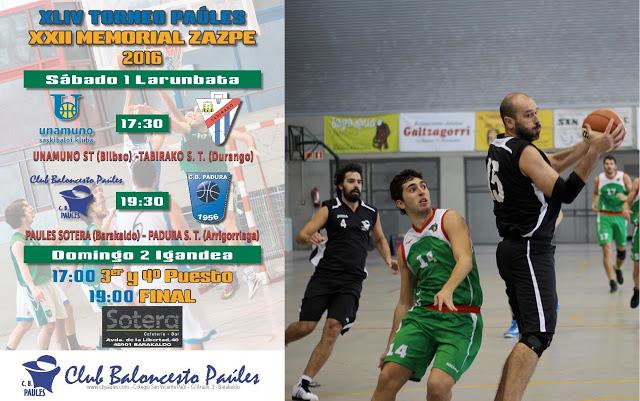 El Club Baloncesto Paúles celebra el 1 y 2 de octubre el Torneo Zazpe que llega a la 44 edición