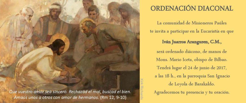Invitación de la Comunidad. Ordenación diaconal.