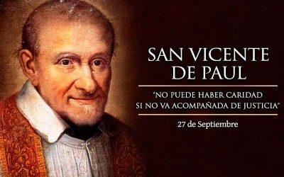 ¡Feliz día de San Vicente de Paúl!