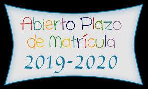 Matriculación 2019 – 2020