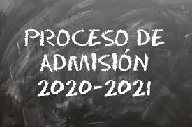 Suspensión de plazos del proceso de admisión